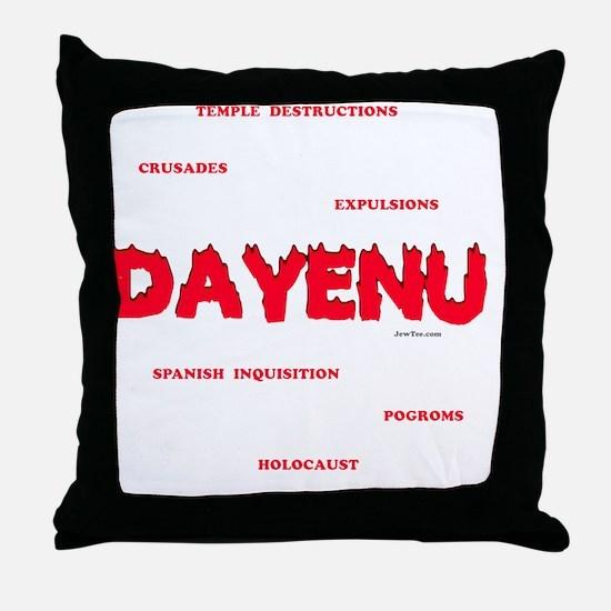 Dayenu white flat Throw Pillow