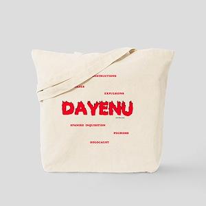 Dayenu white flat Tote Bag