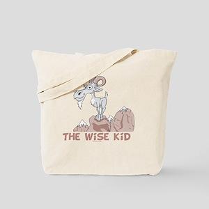 Wise Kid flat Tote Bag