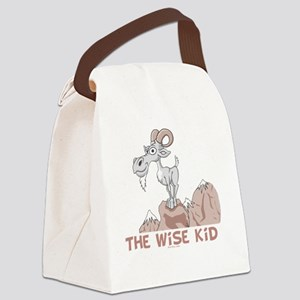 Wise Kid flat Canvas Lunch Bag