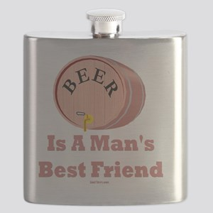 Beer Mans Friend Flat Flask