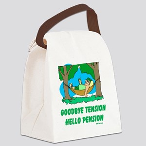 Hello Pension flat Canvas Lunch Bag