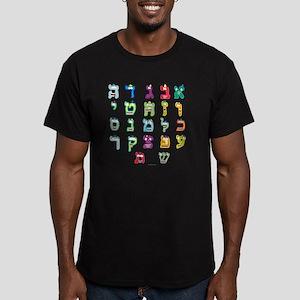 Aleph Bais Flat Men's Fitted T-Shirt (dark)