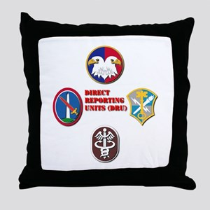 Direct Reporting Unit (DRU) Throw Pillow