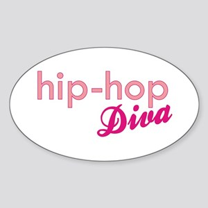Hip-Hop Diva Oval Sticker