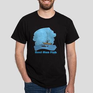 Real Men Fish Flat Dark T-Shirt