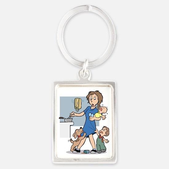 24/7 mom Portrait Keychain