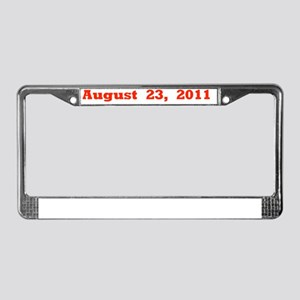 August 23, 2011 red flat License Plate Frame