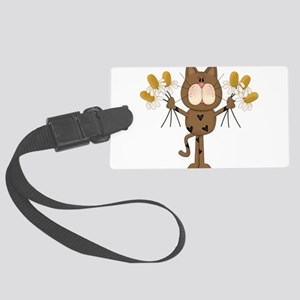 Cat with Daisies Luggage Tag