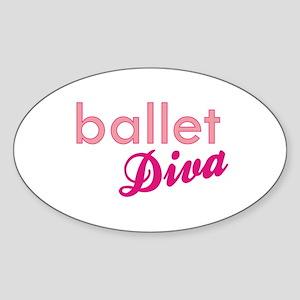 Ballet Diva Oval Sticker