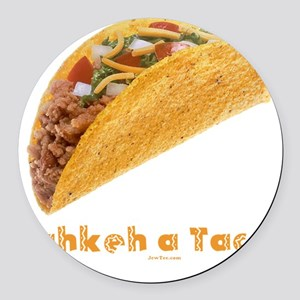 Takkeh a Taco flat Round Car Magnet