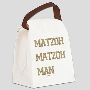 Matzoh MAtzoh Man Words flat Canvas Lunch Bag