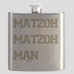 Matzoh MAtzoh Man Words flat Flask