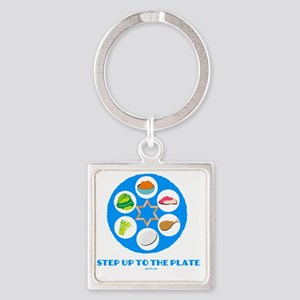 Step UpTO Plate 4 flat Square Keychain