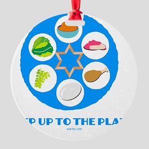 Step UpTO Plate 4 flat Round Ornament