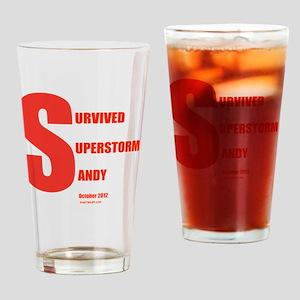 I Survived Superstorm Sandy Drinking Glass