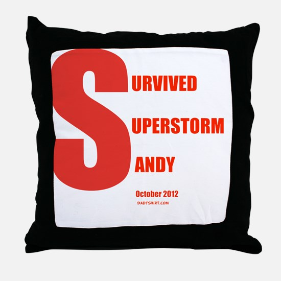 I Survived Superstorm Sandy Throw Pillow