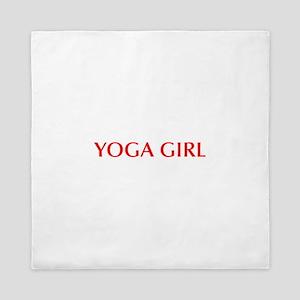yoga-girl-opt-red Queen Duvet