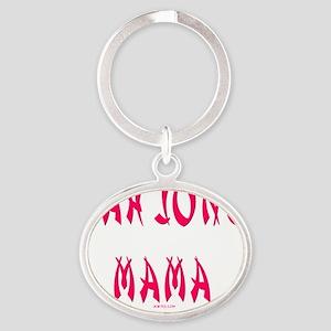 Mah Jong Mama Oval Keychain