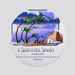 I Survived Sandy Round Ornament
