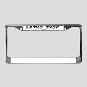 Latke Chef License Plate Frame