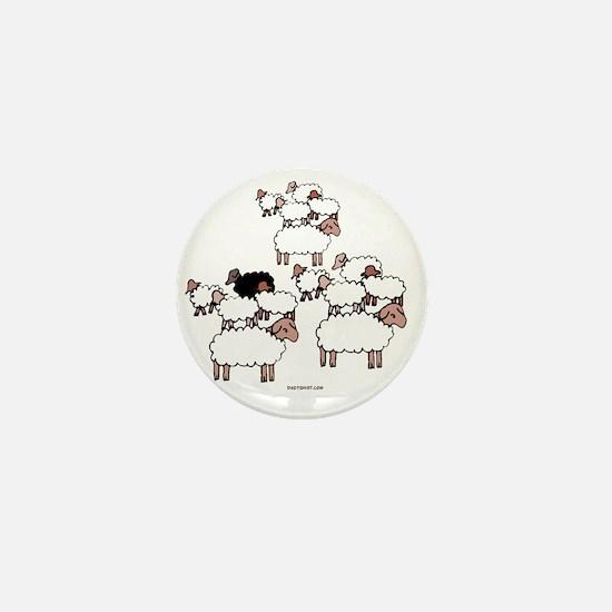 Black Sheep Mini Button