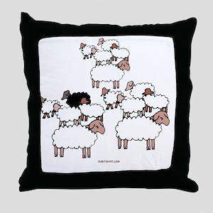 Black Sheep Throw Pillow