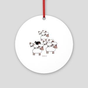 Black Sheep Round Ornament