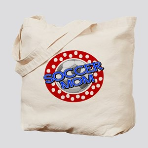 Soccer Mom Red White Blue Tote Bag