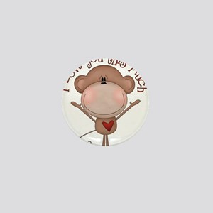 I love you monkey Mini Button