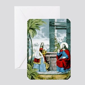 Christ at the well - 1846 Greeting Card