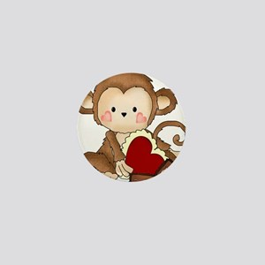 Monkey with candy Mini Button