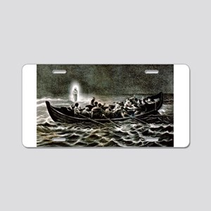 Christ walking on the sea - 1907 Aluminum License