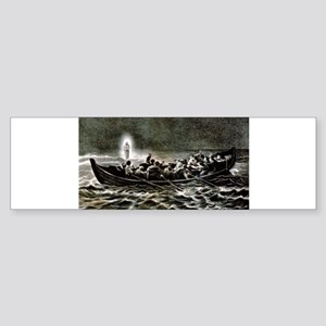 Christ walking on the sea - 1907 Sticker (Bumper)