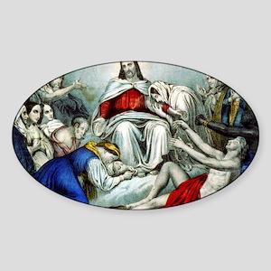 Christus consolator - 1856 Sticker (Oval)