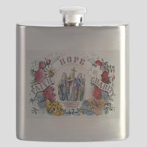 Faith Hope Charity - 1874 Flask