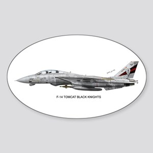 VF-154 Black Knights Oval Sticker