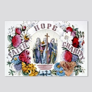 Faith Hope Charity - 1874 Postcards (Package of 8)