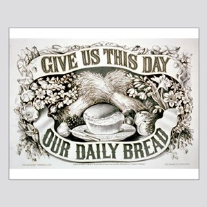 Give us this day our daily bread - 1872 Small Post