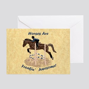 Horses Are Freakin' Awesome Greeting Card