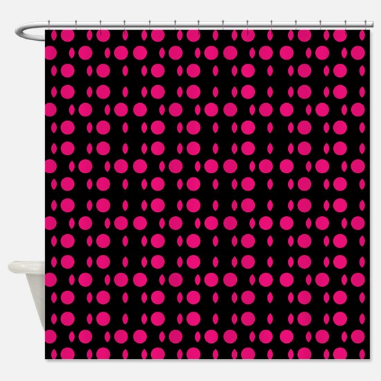 Red Black Odyssey Designer Shower Curtain