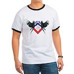 Masonic Red, White and Blue Eagles Ringer T