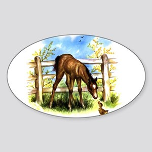 FOAL PLAY Oval Sticker