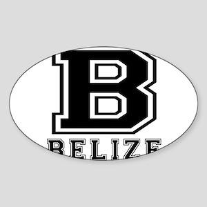 Belize Designs Sticker (Oval)