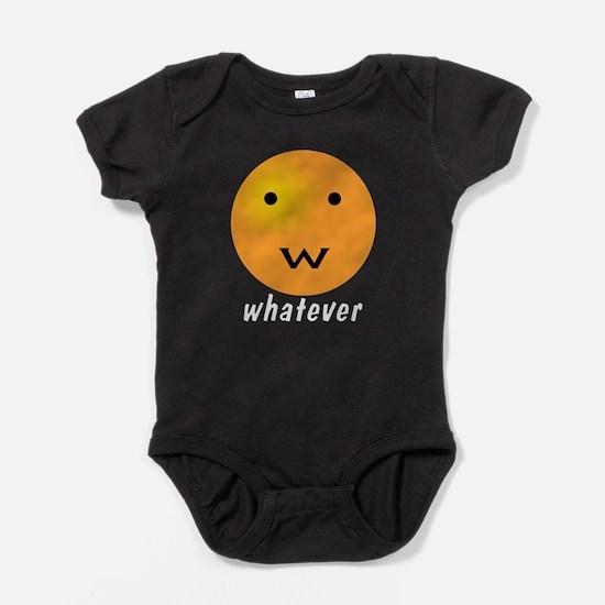 Funny Whatever Smiley Baby Bodysuit