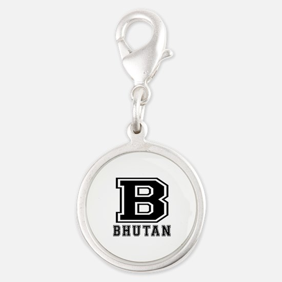 Bhutan Designs Silver Round Charm