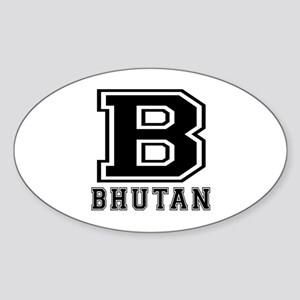 Bhutan Designs Sticker (Oval)