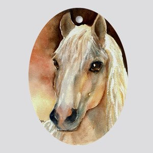 Palomino Horse Oval Ornament