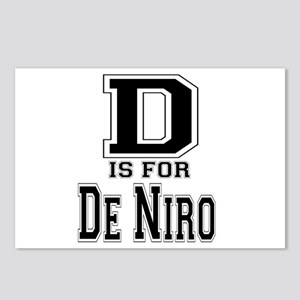 D is for De Niro Postcards (Package of 8)