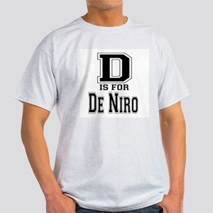 D is for De Niro Ash Grey T-Shirt